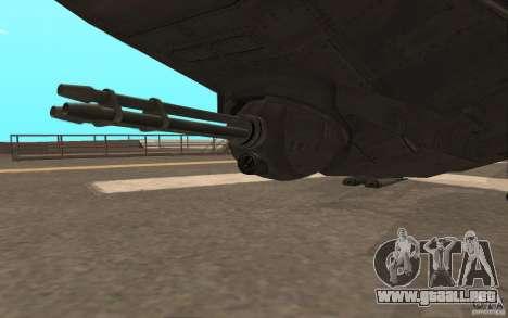 MQ Drone from BO2 para GTA San Andreas vista hacia atrás