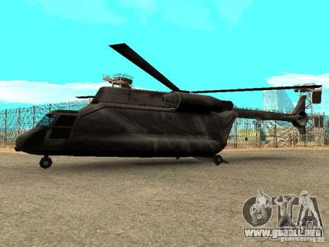 New Cargobob para GTA San Andreas left