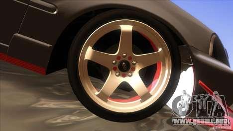 Honda Civic SI para vista inferior GTA San Andreas