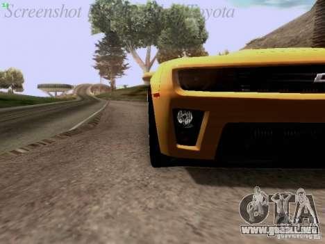 Chevrolet Camaro ZL1 2012 para GTA San Andreas vista hacia atrás
