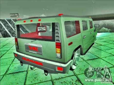Hummer H2 Phantom para GTA San Andreas left