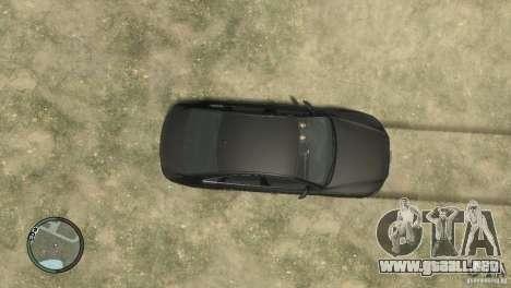 Audi A8 V8 FSI para GTA 4 vista hacia atrás