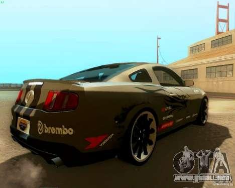 Ford Mustang Boss 302 2011 para GTA San Andreas interior