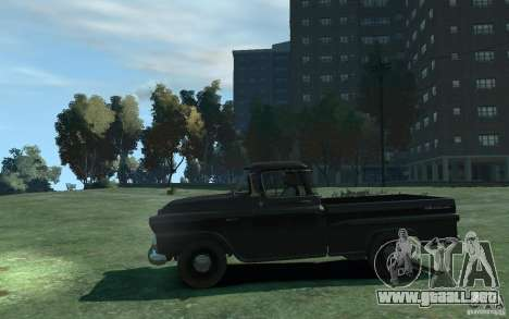 Chevrolet Apache Fleetside 1958 para GTA 4 left