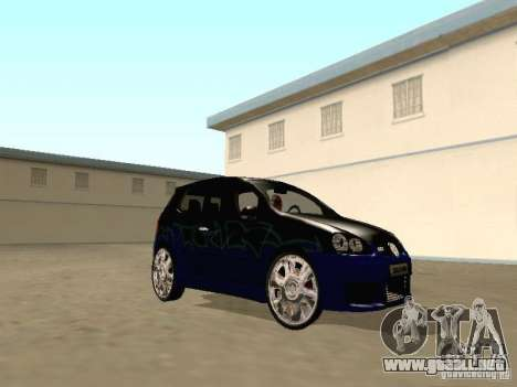 Volkswagen Golf V GTI para GTA San Andreas vista hacia atrás