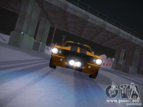 Shelby GT500 Eleanor para la vista superior GTA San Andreas