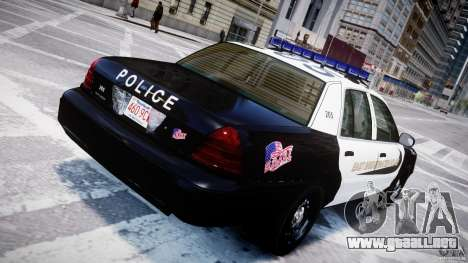 Ford Crown Victoria Massachusetts Police [ELS] para GTA 4 interior
