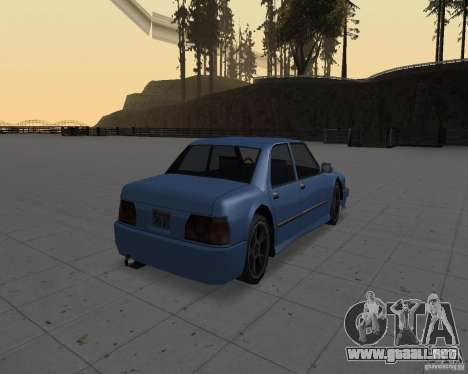 Máquinas sin suciedad para GTA San Andreas sucesivamente de pantalla