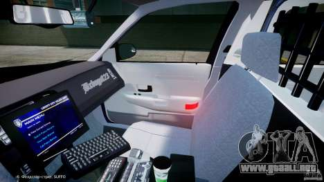 Ford Crown Victoria New York State Patrol [ELS] para GTA 4 vista interior