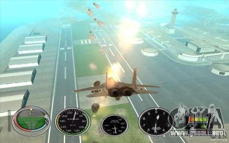 Lanzamiento del cohete rápido a Hydra y Hunter para GTA San Andreas quinta pantalla