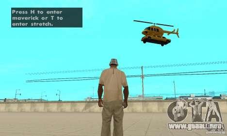 VIP TAXI para GTA San Andreas tercera pantalla