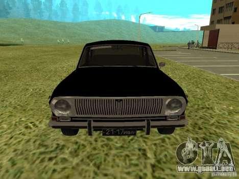 Volga GAZ-24 01 para GTA San Andreas vista posterior izquierda