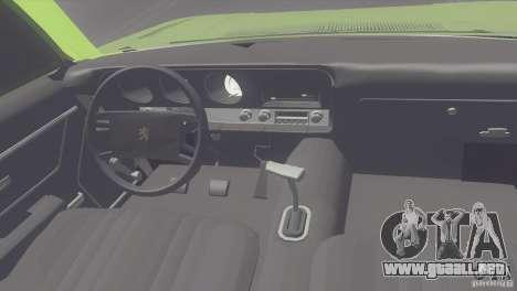 Peugeot 504 para la visión correcta GTA San Andreas