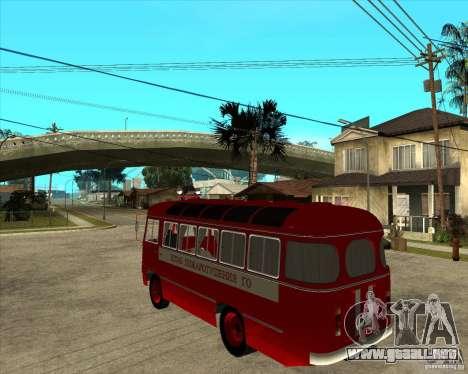 Bombero PAZ 672 para GTA San Andreas left