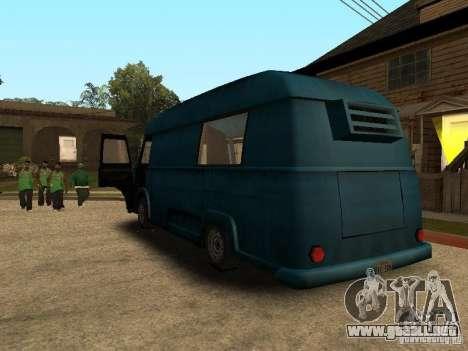 Hotdog civil Van para GTA San Andreas left