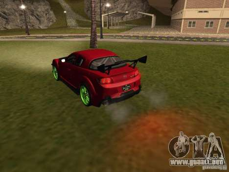 Mazda RX-8 R3 Tuned 2011 para vista inferior GTA San Andreas