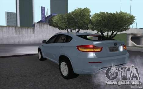 BMW X6M 2013 para GTA San Andreas left