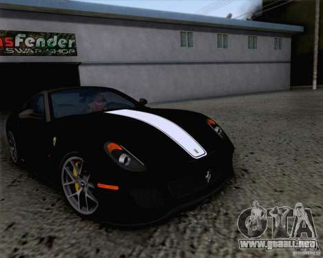 Ferrari 599 GTO 2011 v2.0 para vista lateral GTA San Andreas