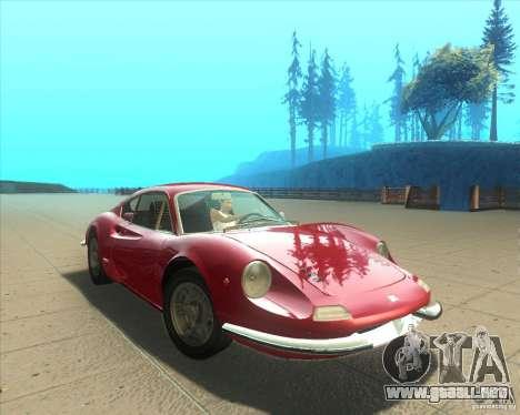 Ferrari Dino 246 GT para la visión correcta GTA San Andreas