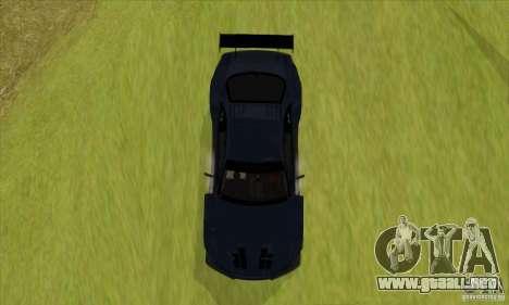 Nissan Skyline R34 GT-R LM para GTA San Andreas vista posterior izquierda