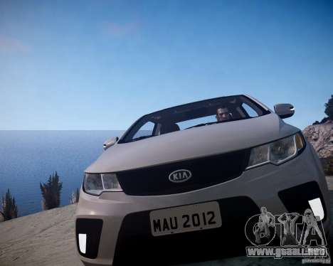 Kia Cerato Koup 2011 para GTA 4 vista hacia atrás