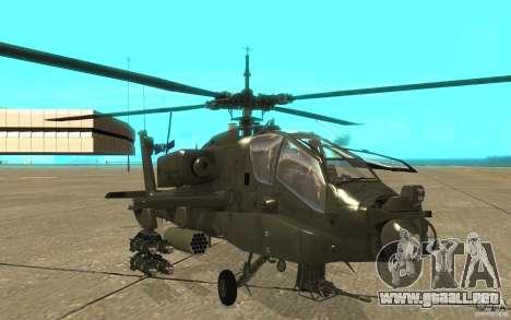AH-64 Apache para GTA San Andreas left