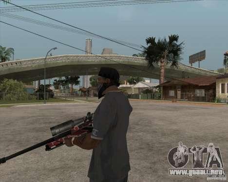 Accuracy International L96A1 para GTA San Andreas tercera pantalla