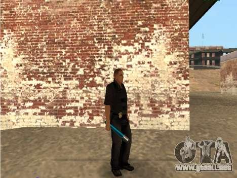Chrome and Blue Weapons Pack para GTA San Andreas sexta pantalla