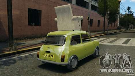 Mini Cooper para GTA 4 Vista posterior izquierda