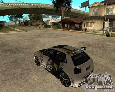 Audi S3 Monster Energy para GTA San Andreas left