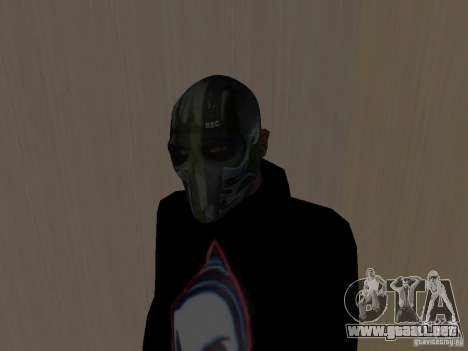 Army of Two Mask Camo para GTA San Andreas segunda pantalla