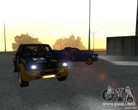 Fiat 131 Rally para GTA San Andreas left