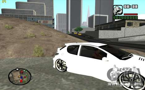 Peugeot 206 Tuning para GTA San Andreas left