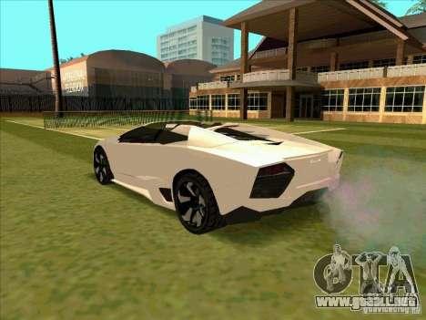 Lamborghini Reventon Convertible para GTA San Andreas vista posterior izquierda