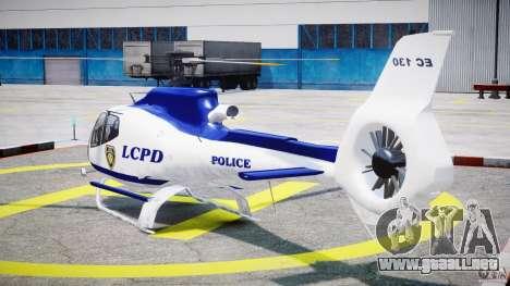 Eurocopter EC 130 LCPD para GTA 4 Vista posterior izquierda