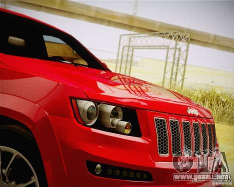 Jeep Grand Cherokee SRT-8 2012 para la visión correcta GTA San Andreas