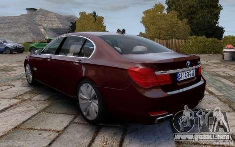 BMW 760Li 2011 para GTA 4 Vista posterior izquierda