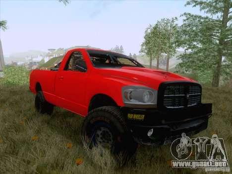 Dodge Ram Trophy Truck para GTA San Andreas vista posterior izquierda