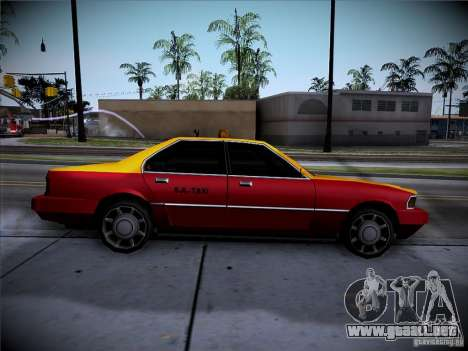 Sentinel Taxi para GTA San Andreas vista posterior izquierda