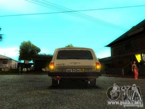 GAZ Volga 310221 Wagon para visión interna GTA San Andreas
