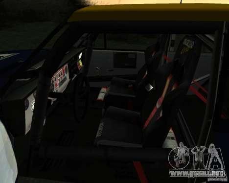 Fiat 131 Rally para vista lateral GTA San Andreas