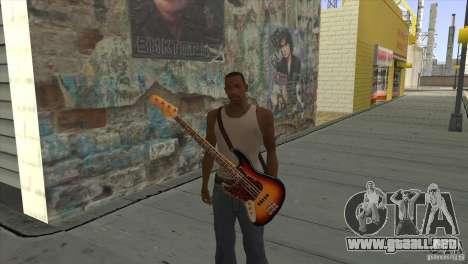 Canciones de la película en la guitarra para GTA San Andreas octavo de pantalla