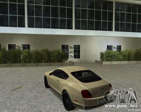 Bentley Continental SS para GTA Vice City visión correcta