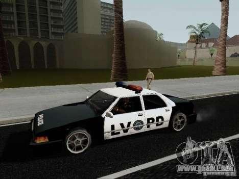Sunrise Police LV para GTA San Andreas left