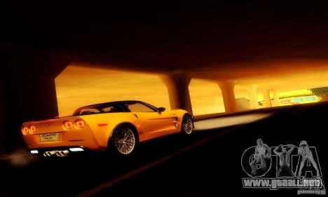 Chevrolet Corvette ZR-1 para visión interna GTA San Andreas