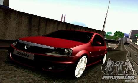 Dacia Logan 2008 para GTA San Andreas vista posterior izquierda