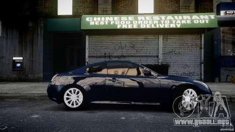 Infiniti G37 Coupe Sport para GTA 4 vista hacia atrás