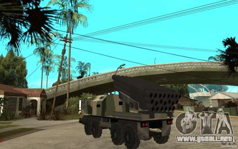 Missile Launcher Truck para GTA San Andreas vista posterior izquierda