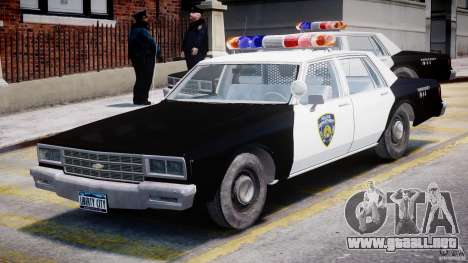 Chevrolet Impala Police 1983 para GTA 4 left