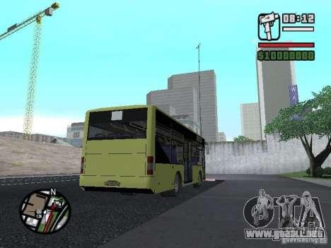 LAZ A099 (SitiLAZ 8) para GTA San Andreas vista posterior izquierda
